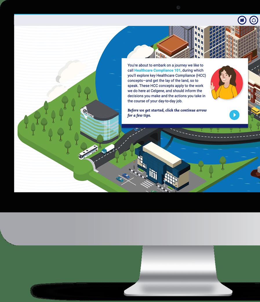 New Hire Compliance Training Virtual World